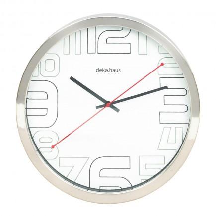 Reloj de pared cromado 35 cms
