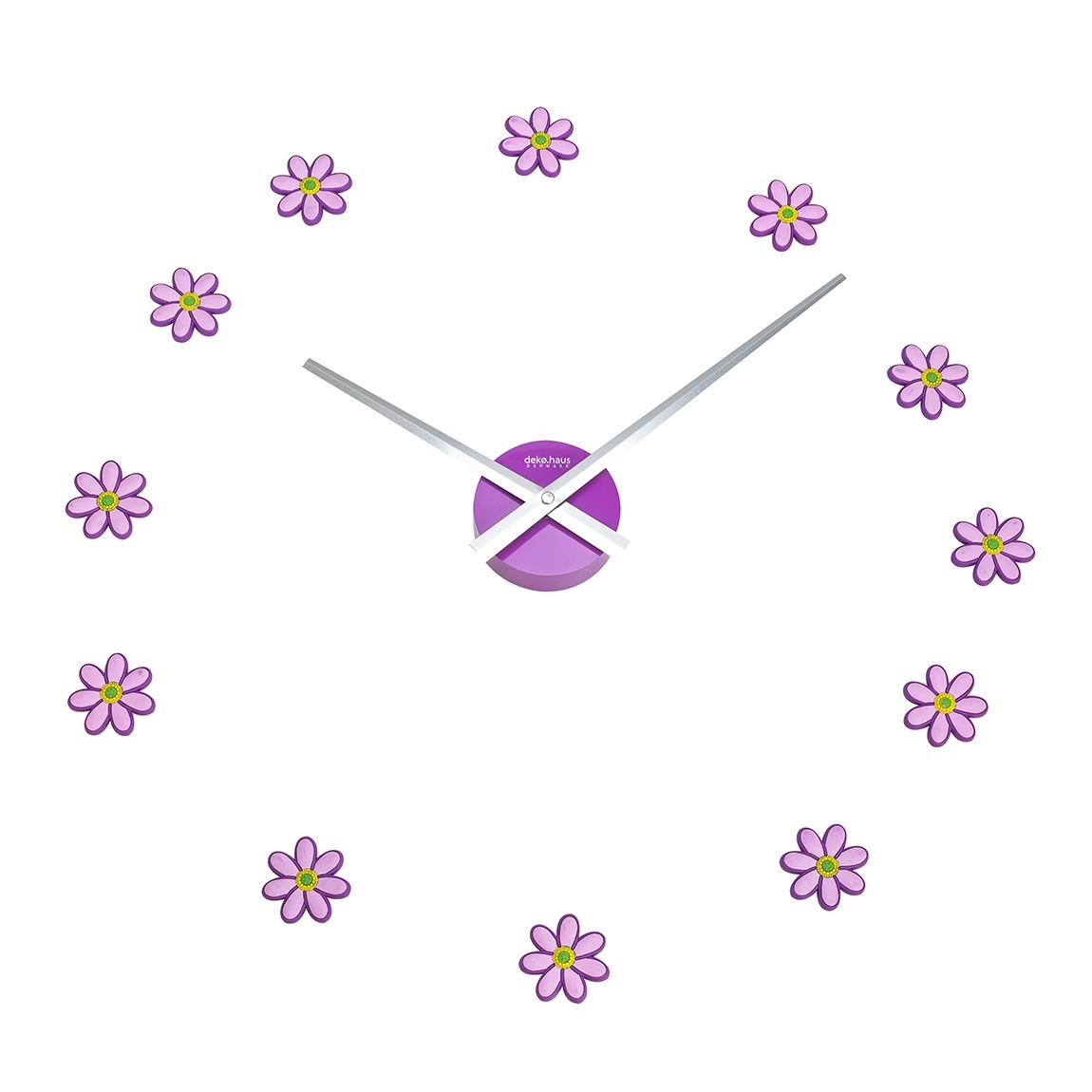 Reloj de pared flores 27cm Better Space (ajustable)
