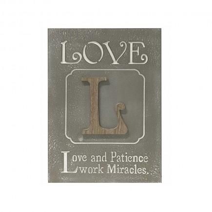 Cuadro decorativo Love...