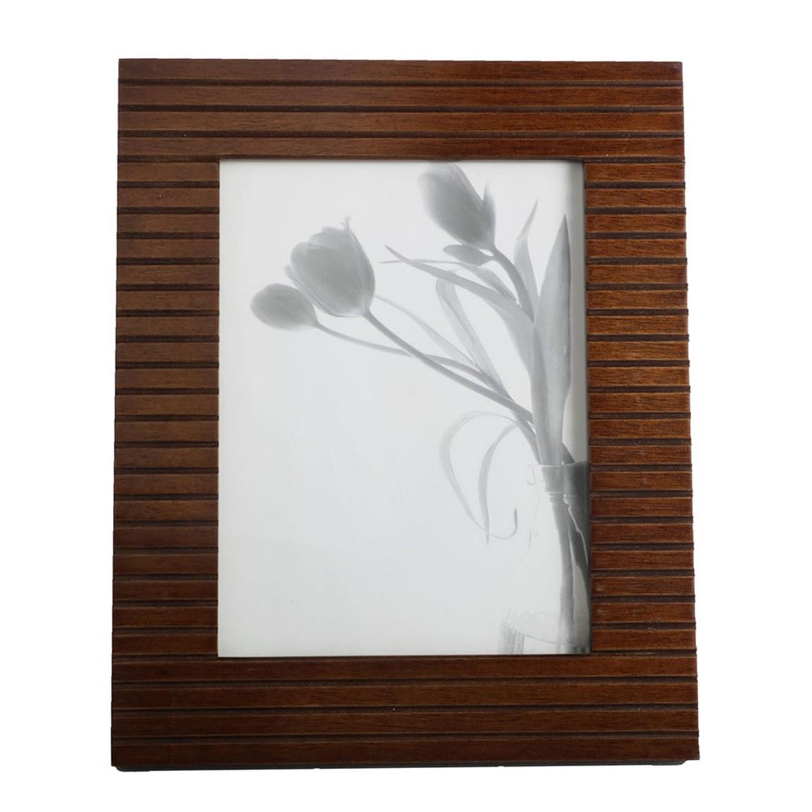 Portarretratos madera lineas 5x7