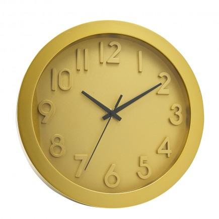 Reloj de pared amarillo
