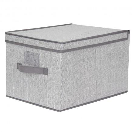 Caja almacenadora gris
