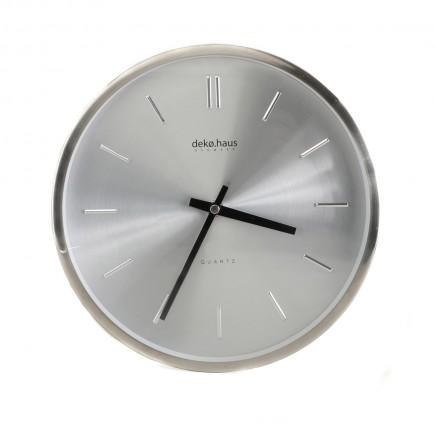 Reloj De Pared Plateado 25cm